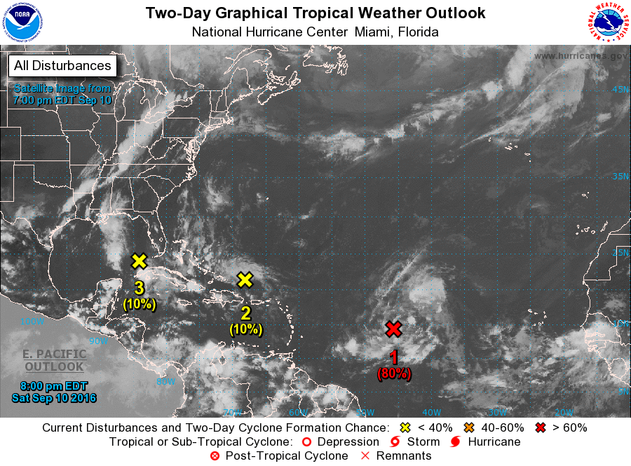 Atlantic 2 Day Forecast September 10, 2016
