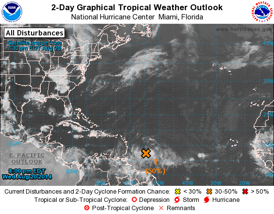 Possible storm brewing in the Atlantic
